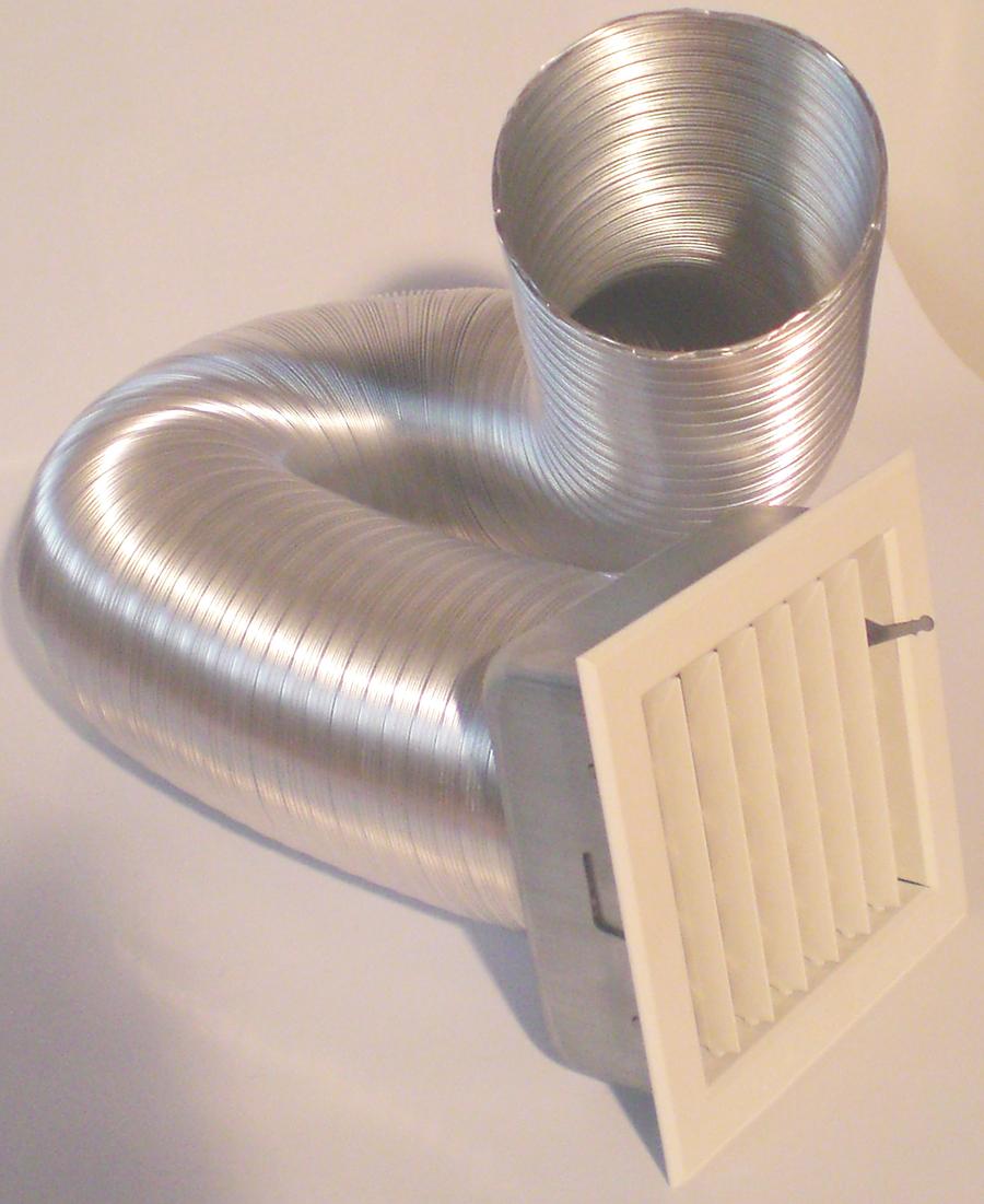 Tubi Aria Calda Stufa Pellet tubo flessibile estensibile in alluminio 150 - zetalinea shop